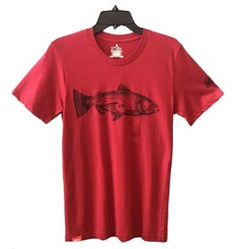 meridian line Salmon Wave Men's T-Shirt