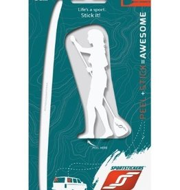 Sportstickers SUP – Female – White