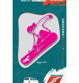 Sportstickers Freestyle Snowboarding – Female – Pink