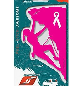 Sportstickers Rock Climber - Female - Pink