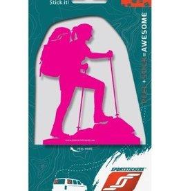 Sportstickers Trekker – Female – Pink