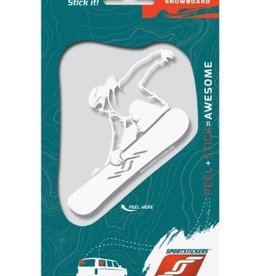 Sportstickers Freestyle Snowboaring - Female - White