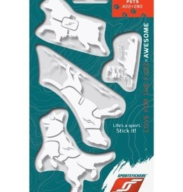 Sportstickers Wintersport Pets -  White