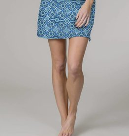 Colorado Clothing Tranquility Travel Skort - Ocean Flower (small)