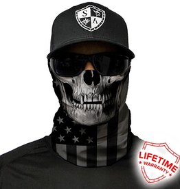 SA Company Face Shield Black Out American Flag Skull