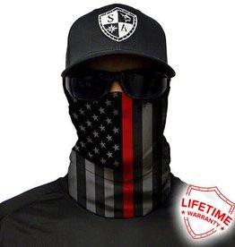 SA Company Face Shield Thin Red Line Flag