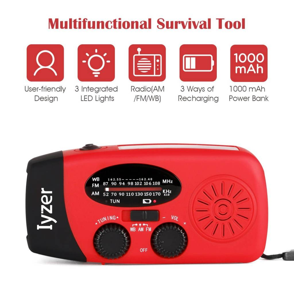 TrailWalker Gear Lyker Solar/Hand Crank Emergency Radio