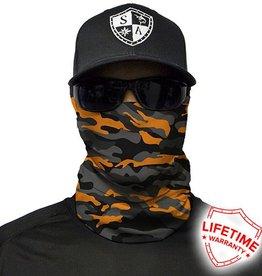 SA Company Face Shield Orange & Grey Military Camo