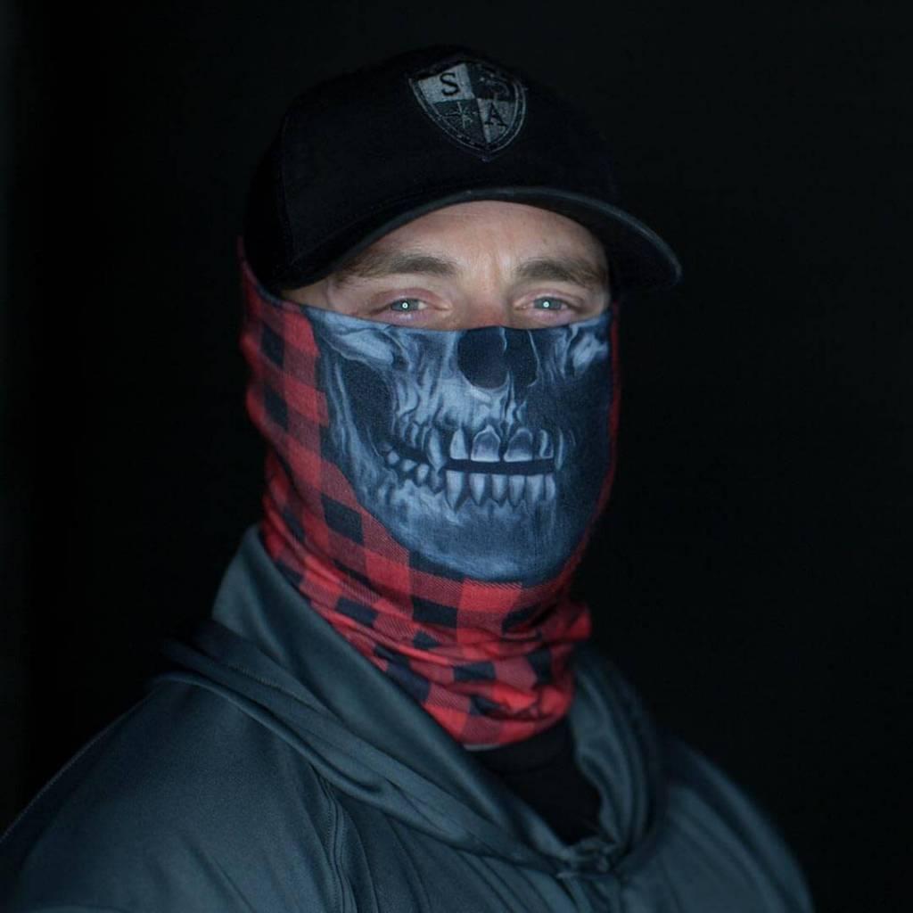 SA Company Face Shield Lumberjack | Red (Skull)