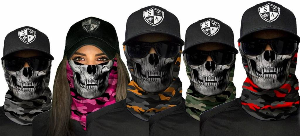 SA Company Military Blackout Camo Skull |