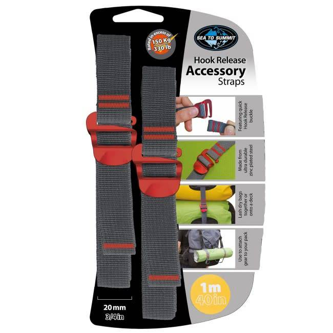 Sea To Summit Hook Release Accy Strap 20mm, Red