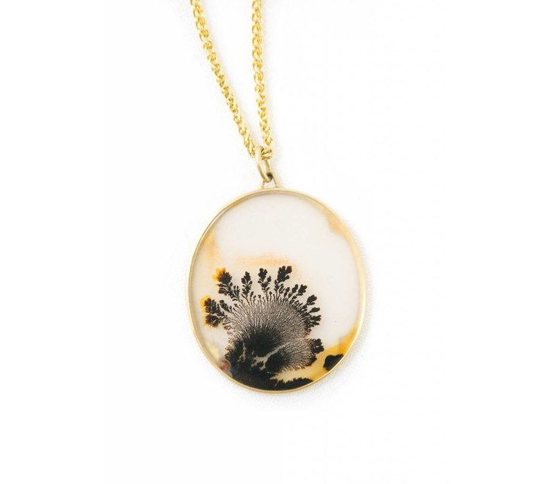 Dendritic Quartz Pendant Necklace