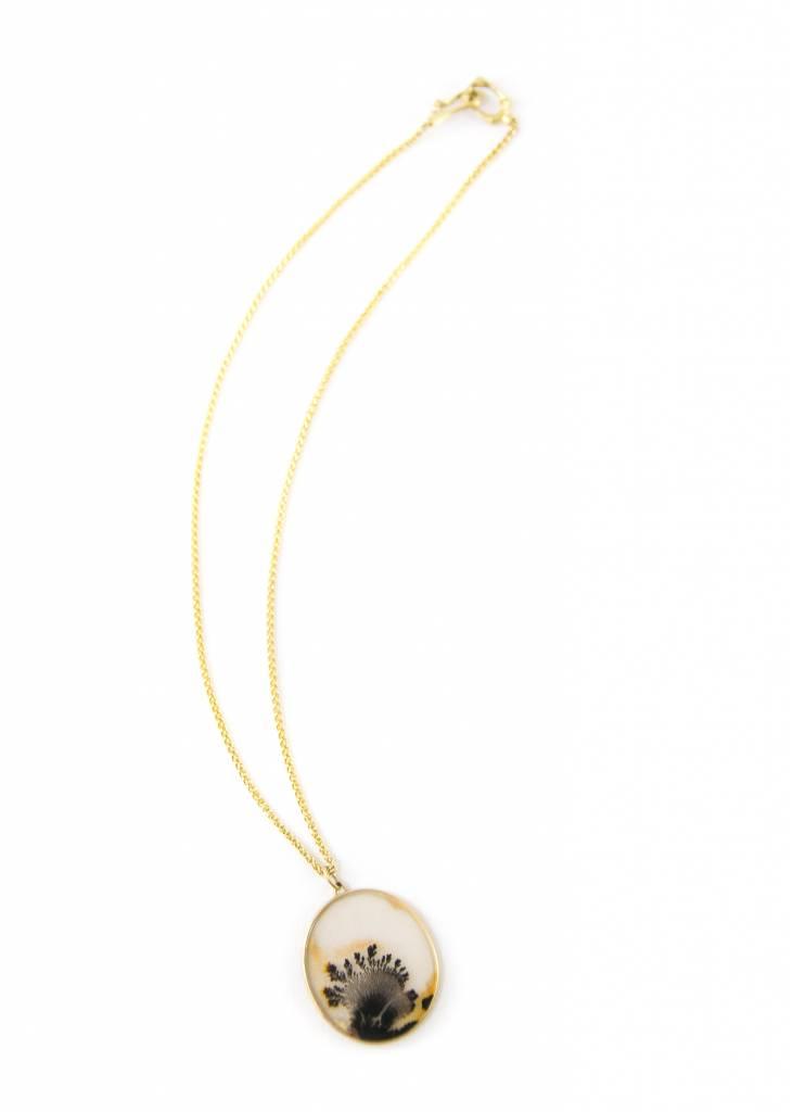 Dendritic Quartz Pendant Necklace