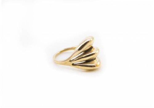 Ariana Boussard - Reifel Kara Ring - Brass