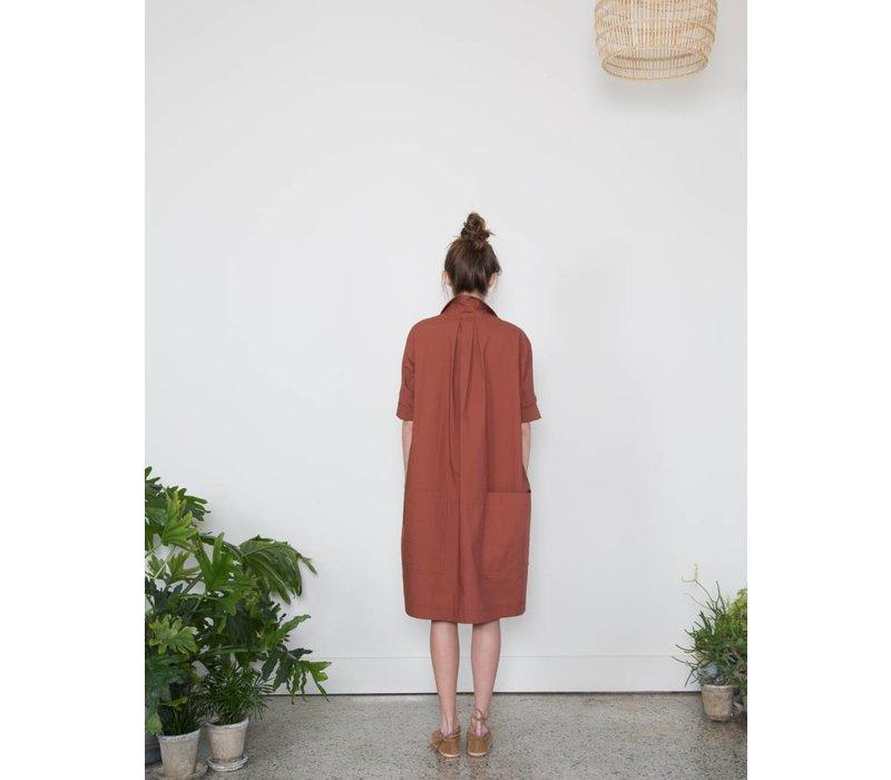 Nehmo Shirtdress Dark Rust