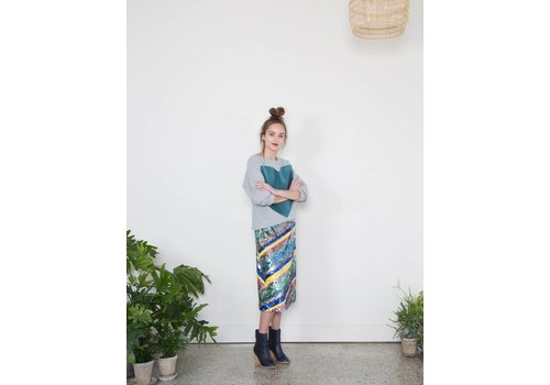 Odeeh Striped Sequin Skirt