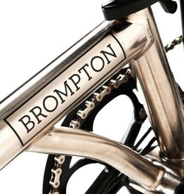 Brompton Brompton M Type 6 Speed w/mudguards - Nickel Limited Edition/Black