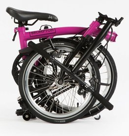 Brompton Brompton Black Edition M Type 6 Speeds w/ mudguards - Berry Crush/Black