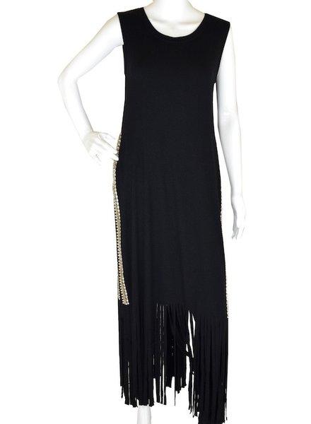 ROCKNKARMA LAYER FRINGE DRESS