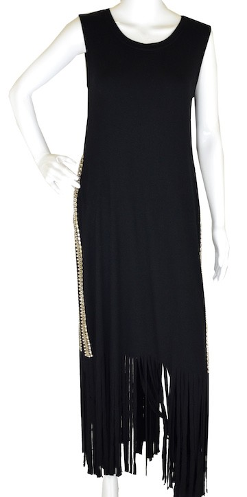 ROCKNKARMA LAYER FRINGE DRESS