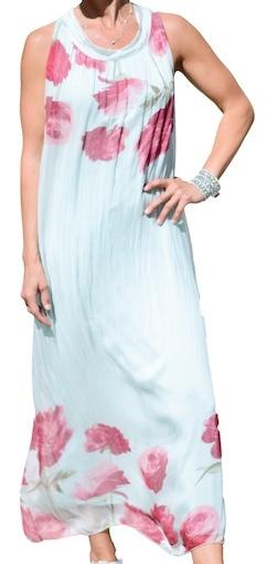 M ITALY FLOATY LONG DRESS