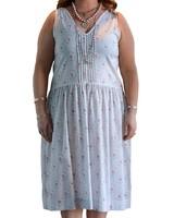 LAZYBONES ORGANIC COTTON SLIP DRESS FLORAL