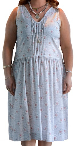 LAZYBONES ORGANIC COTTON SLIP DRESS FLORAL
