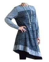 VIGORELLA VIGORELLA TRIBAL ASSYMETRICAL DRESS