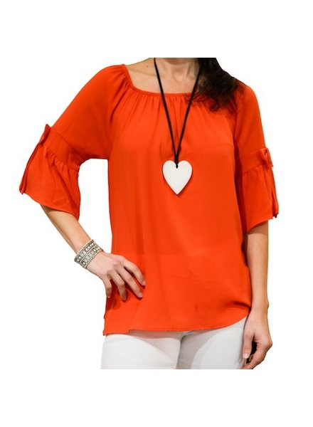 M ITALY BOW SLEEVE TOP