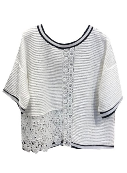 FRENCH CONNECTION EYELET LACE SWEATER