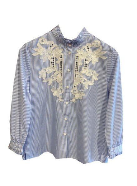 FRENCH CONNECTION APPLIQUE BLOUSE