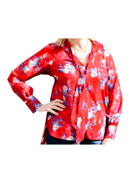 FRENCH CONNECTION PRINT BLOUSE