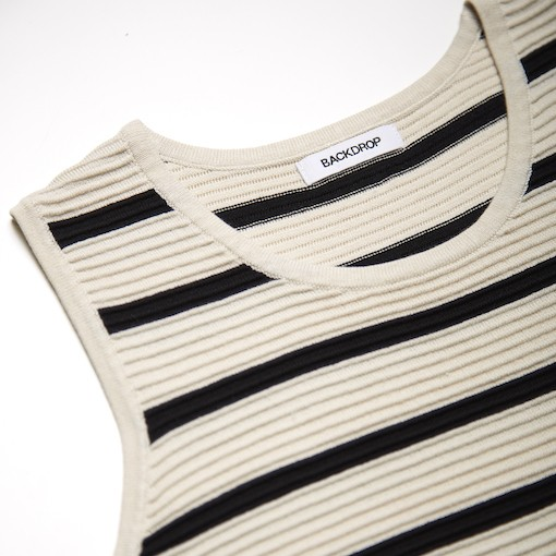 BACKDROP STRIPE RIBBED TANK