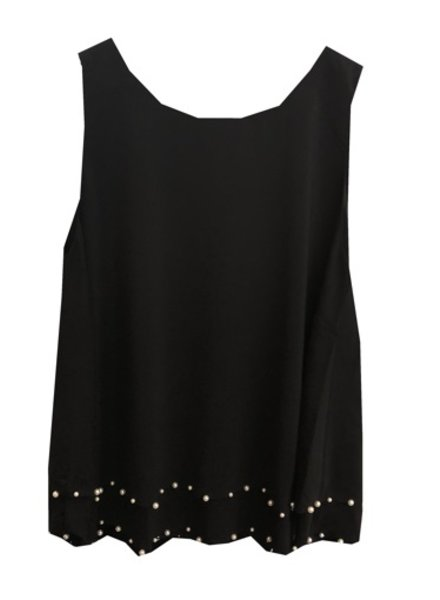 UCHUU SLEEVELESS PEARL TOP