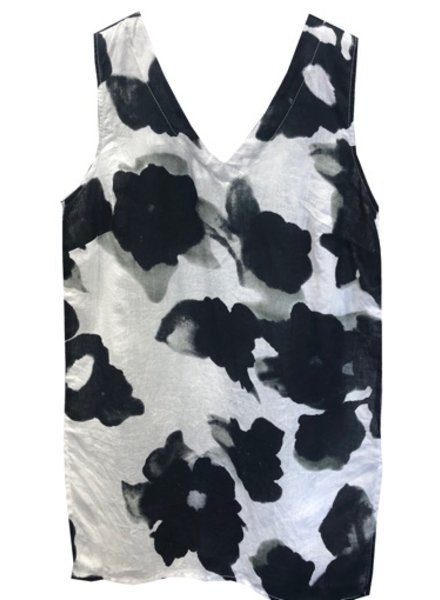 BANANA BLUE FLOWER PRINT TANK