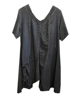 TSHIRT DRESS WITH ROUCHING