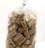 LDC 9 X 1 3/4 Premium Quality Twin Disc Straight Wine Corks 100/Bag