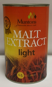 LME Muntons Plain Light Malt Extract - 1 Tin