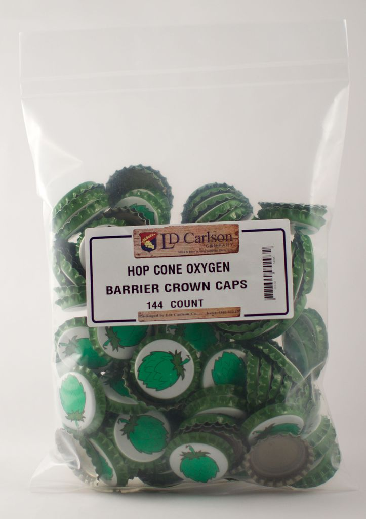 LDC Hop Cone Crown Caps With Oxy-liner 144/bag