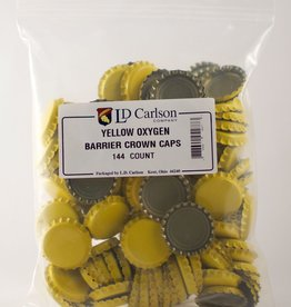 LDC Yellow Crown Caps With Oxy-liner 144/bag