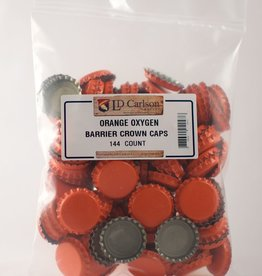 LDC Orange Crown Caps With Oxy-liner, 144/bag