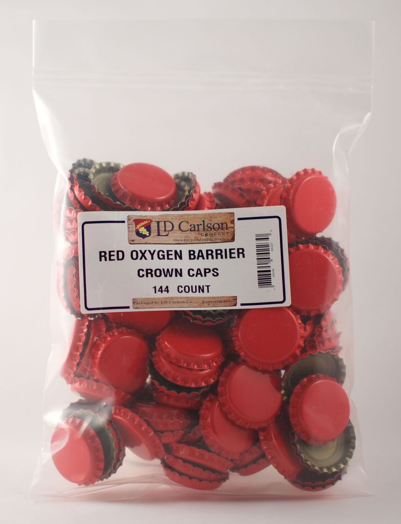 LDC Red Crown Caps With Oxy-liner 144/bag