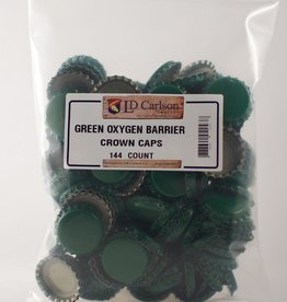 LDC Green Crown Caps With Oxy-liner 144/bag
