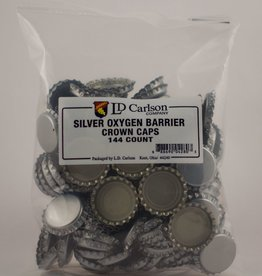 LDC Silver Oxygen Barrier Crown Caps (144/bag)