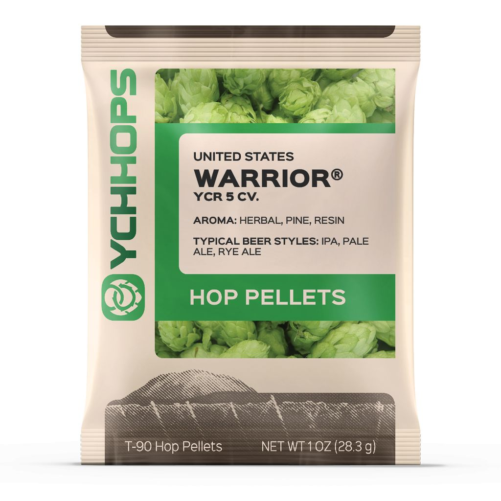 Hops US Warrior Hop Pellets 1 Oz