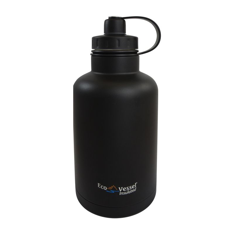 BrewCraftUSA BOSS Triple Insulated SS Beer Growler Bottle BLACK