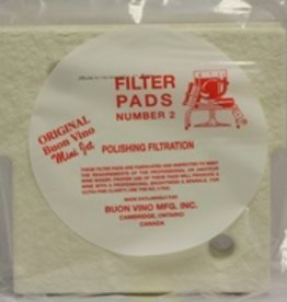 Buon Vino Buon Vino Filter Mini Pad #2 Polish Micron 1.8 (Pkg of 3)