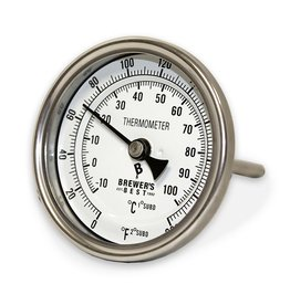 """Brewers Best Brewer's Best Kettle Thermometer 3"""" Dial and 4"""" Probe"""