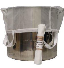 """LDC BIAB """"Brew in a Bag"""" Nylon Straining Bag w/ Handles 24"""" x 26"""""""