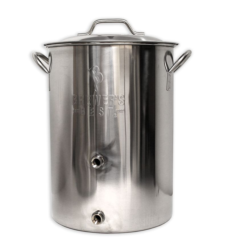Brewers Best Brewer's Best Basic Brewing Kettle 8 Gallon Two Ports Complete Setup